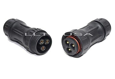 Waterproof Connector Llt-usa M45 Ip68 3 Pin 70a Screw On Male And Female Plug
