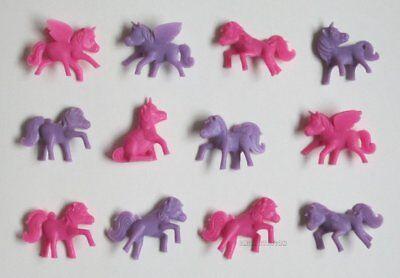 12 Mini Unicorn Pegasus Pony Figures Princess Party Goody Loot Bag Pinata Favor - Pinata Princess