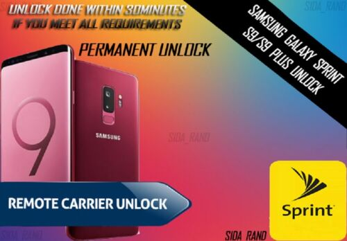 Samsung Galaxy Sprint S9/S9 Plus Permanent Unlock Service
