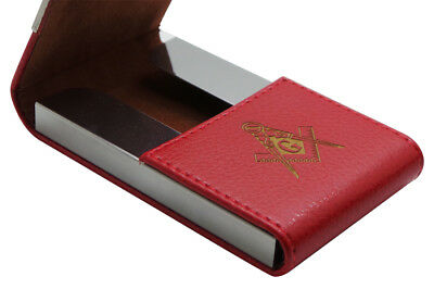 Freemason Personalised Card Case Custom Engraved Business ID Member Pass Masonic