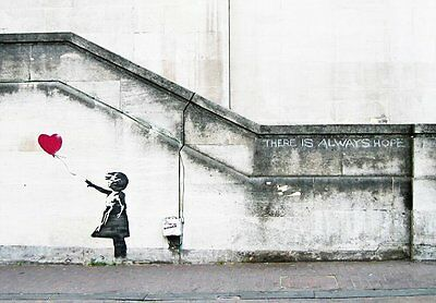 Canvas Print Wall Art Picture Painting Home Decor Banksy Red Balloon Girl Framed