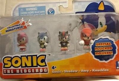 Sonic the Hedgehog Special Flocked Minature Figures Knuckles Shadow Amy New Box - Knuckles Sonic The Hedgehog