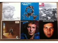 Selection of 26 pop, rock and folk vinyl LPs