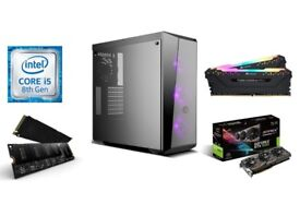 6 Core i5 8600K Z370 GTX 1060 NVMe Gaming PC Windows 10 Desktop Computer