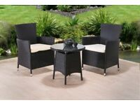 **FREE UK DELIVERY 1-3 DAYS!** 3-Piece Rattan Garden Conservatory Furniture - 50% OFF!