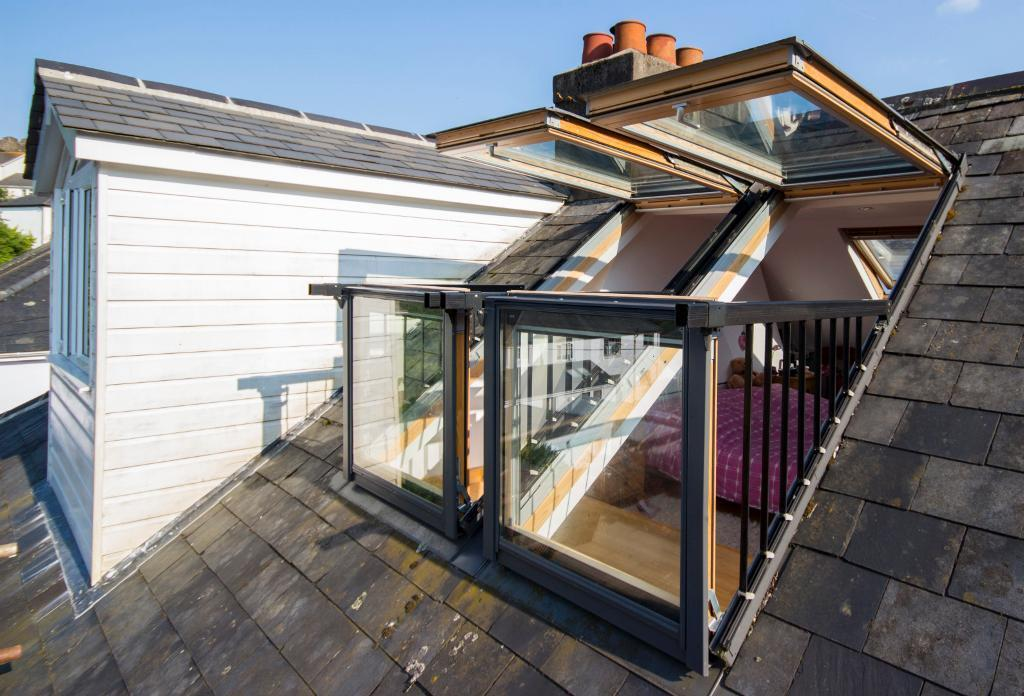 velux cabrio terrace window system x 2 in totnes devon. Black Bedroom Furniture Sets. Home Design Ideas