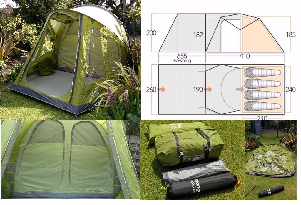 Vango Kalu 400 4 Person Tent Awning Footprint Brand