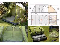 Vango Kalu 400 4 person Tent + Awning + footprint *BRAND NEW*