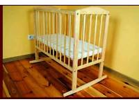 Baby Cot with three adjustment options + FREE Metress