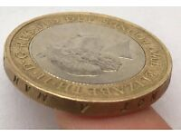 1807 minting error £2 coin