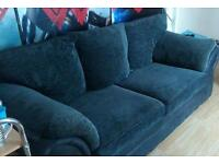 3 seater black and Grey couch
