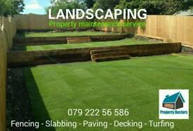 Landscaping, turfing, patios, Slabbing, fencing, decking - The property Doctors