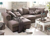 Lennox Corner plush velvet Sofa set any colours