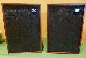 Wharfedale Denton 2 vintage speakers in very good condition - preowned from new