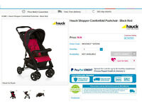 Hauck Comfortfold Pushchair - for small boots!