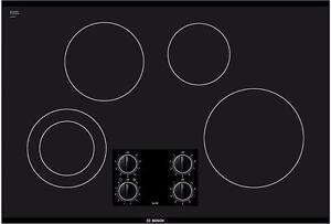 30'' Cooktop, Glass ceramic, Black, BOSCH