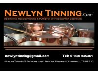 Copper Pan Re-Tinning, copper pan, copper pot, copper saucepans, copper cookware, copper saute pan