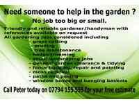 Gardener/ Handyman Edinburgh+Fife and surrounding area