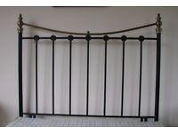 double 4ft6inch head board vgc brass and metal