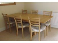 DINING TABLE & 6 CHAIRS - BEAUTIFUL ERCOL NEEDS NEW HOME SOON