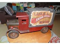 (#4) Large vintage Wooden Advertising Lorry truck excellent condition £85 ONO