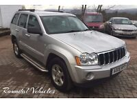 NOW REDUCED 2008 Jeep Grand Cherokee 3.0 CRD Diesel LIMITED 4x4 auto FULL SPEC Nav and DVD, 89k
