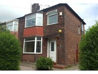 3 bed 1930s semi, own drive, new boiler, close to Salford Royal