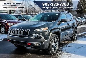 2016 Jeep Cherokee TRAILHAWK, SUNROOF, BLINDSPOT, 8.4 DISPLAY, H