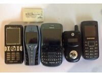 5 MOBILE PHONES SPARES OR REPAIR SOME WORKING JUST NEED CHARGERS