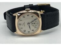 Vintage 9k 9ct solid gold Record Mens Swiss Watch (Longines) Serviced + Warranty