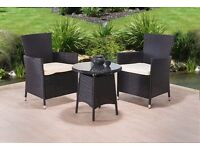 FAST AND FREE UK DELIVERY** 3-Piece Rattan Garden Conservatory Furniture - BRAND NEW!