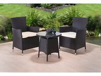 **FREE UK DELIVERY** 3-Piece Rattan Garden Conservatory Furniture - 50% OFF!