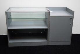 Shop Counter set of 2 units Grey Metallica Matt Finish/Ref:0328