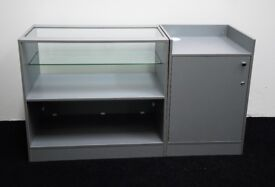 Shop Counter set of 2 units Grey Metallica Matt Finish/Ref:0328