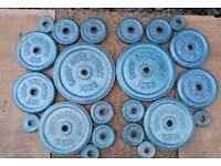 Body sculpture metal weight plates set 70kg