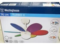 Ceiling Fan - Westinghouse Turbo II with light