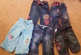 Girls trousers 6-9 months job lot