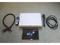 Sky plus box 80 gb, with Sky card, remote, all cables and SCART lead