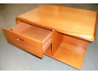 Teak Coffee Table or TV Stand, with Storage, Meredew