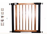 Children's Safety Stair Gate -- Babystart Metal & Wooden Gate