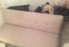 Bearly used Sofa bed bot from made com, miki quail beige, bearly used, missing 2 buttons