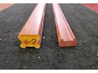 Sapele Handrail and Baserail for 32mm Spindles