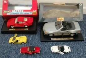 Collection of toy Vintage Sports Cars