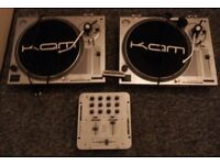 two kam dj mixing decks