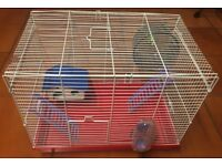 HAMPSTER / GUNNIE PIG CAGE WITH ACCESSORIES PLEASE VEIW ALL NINE PHOTOS