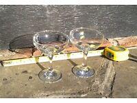 two original late 60's Babycham glasses