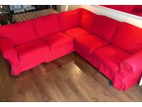 Corner L shaped large Sofa incorporating double Bed