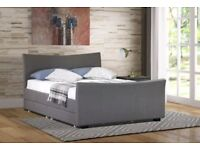 KING SIZE BED WITH FOUR DRAWERS WITH FOAM MATTRESS FOR SALE