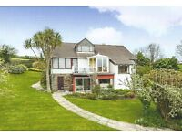 MIXTOW, FOWEY ... Access to Fowey River. Detached 5 bed house, river views, 3/4 acre. Dbl garage.