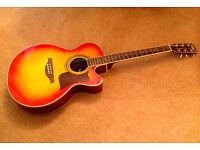Electro acoustic cutaway guitar